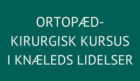 Ortopædkirurgisk kursus i knæleds lidelser